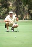 Verde que calibra del golfista Foto de archivo libre de regalías