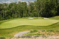 Verde que pone del golf Fotos de archivo libres de regalías