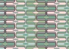 Verde retro e cor-de-rosa do retângulo ilustração do vetor