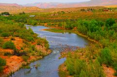 Verde River Valley. And distant mountains Royalty Free Stock Images