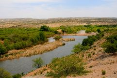 Verde River Valley. Vista and distant mountains Royalty Free Stock Photos
