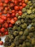 Verde rojo de Peper Imagenes de archivo