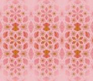 Verde rosa-rosso del modello floreale senza cuciture Immagine Stock Libera da Diritti