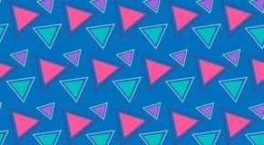 Verde rosado de los triángulos brillantes de la impresión del verano un contexto azul libre illustration