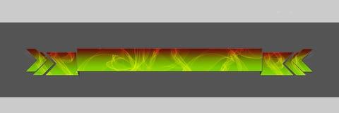 Verde + rosso affumicati dell'intestazione Fotografia Stock Libera da Diritti