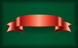 Verde rosso dell'insegna dell'arco del raso del nastro illustrazione di stock