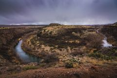 Verde rzeki podkowa Fotografia Royalty Free