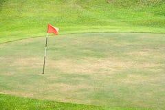Verde sazonado del golf Foto de archivo