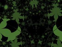 Verde scuro sul nero - illustrazione Fotografia Stock