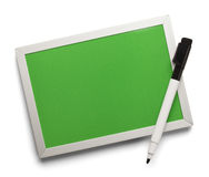 Verde seque al tablero del borrado imagen de archivo libre de regalías