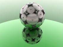 Verde - sfera degli ingranaggi Fotografia Stock