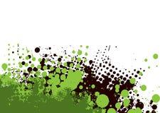 Verde sottile di Grunge Fotografia Stock