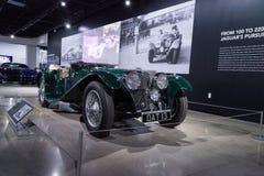 Verde 1937 SS 100 Jaguar Fotografia de Stock Royalty Free