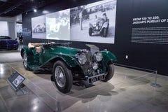 Verde 1937 SS 100 Jaguar Imagens de Stock Royalty Free