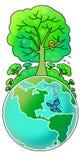 Verde su terra illustrazione di stock
