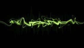 Verde, sumário, onda, preto, fundo Imagens de Stock