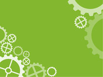Verde técnico do papel de parede da roda denteada Fotografia de Stock