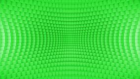 Verde torcido abstracto del fondo de la caja stock de ilustración