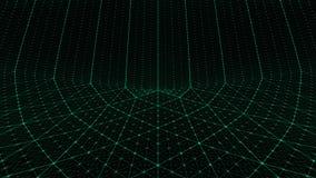 Verde torcido del fondo de la rejilla imagenes de archivo