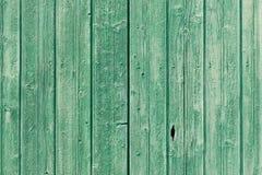 Verde velho pranchas de madeira resistidas pintadas Fotos de Stock Royalty Free