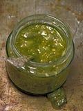 Verde verde rústico de la salsa foto de archivo libre de regalías