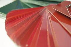 Verde, vermelho, amarelo, suco, vidros imagem de stock
