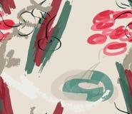 Verde vermelho do pastel do marcador na cereja de creme ilustração royalty free