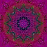 Verde violeta magenta del ornamento inconsútil de la estrella Foto de archivo