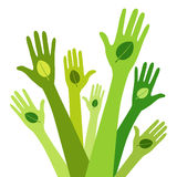 Verde vivo Stock de ilustración