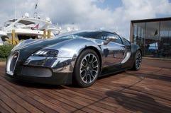 Verde y aluminio de Bugatti Veyron foto de archivo libre de regalías