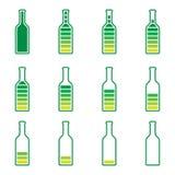 Verde y amarillo del precargador de la botella Fotos de archivo