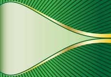 Verde y fondo abstracto del oro Libre Illustration