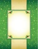 Verde y fondo de la Navidad del oro Fotografía de archivo libre de regalías