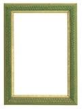 Verde y marco del oro Imagen de archivo libre de regalías