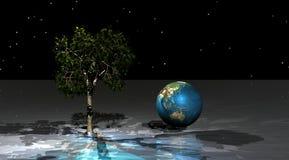 Verde y mundo del árbol Fotografía de archivo libre de regalías
