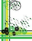 Verde y negro retros Ilustración del Vector