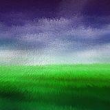 Verde y púrpura saca el extracto del fondo Foto de archivo libre de regalías