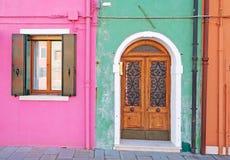 Verde y rosa Fotografía de archivo libre de regalías