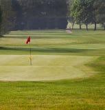 Verde y te del golf Foto de archivo