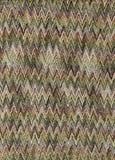 Verde y tela del zigzag de Brown Fotografía de archivo libre de regalías