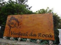 Verdeal da Roca - plantera barnkammaren i Colares, Portugal Arkivfoto