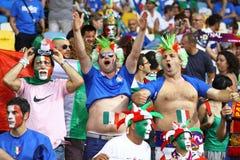 Verdedigers van het de voetbalteam van Italië de nationale Stock Afbeelding