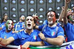 Verdedigers van het de voetbalteam van Italië de nationale Stock Fotografie