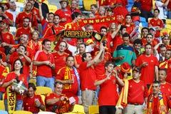 Verdedigers van het de voetbalteam van Spanje de nationale Stock Afbeelding