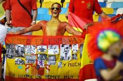 Verdedigers van het de voetbalteam van Spanje de nationale Stock Foto's