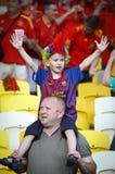 Verdedigers van het de voetbalteam van Spanje de nationale Royalty-vrije Stock Afbeelding