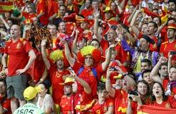 Verdedigers van het de voetbalteam van Spanje de nationale Royalty-vrije Stock Foto's