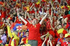 Verdedigers van het de voetbalteam van Spanje de nationale Royalty-vrije Stock Fotografie