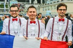 Verdedigers van nationaal de voetbalteam van Frankrijk stock afbeelding