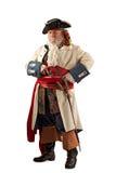 Verdedigings piraat die zich met klaar wapens bevindt Stock Afbeeldingen